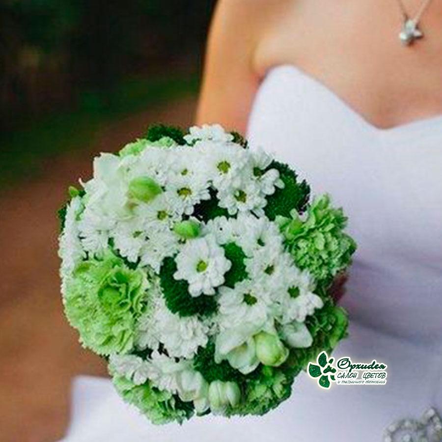 зеленый свадебный букет